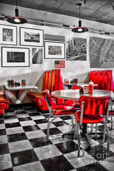 Wall Art - Photograph - Classic Diner by Delphimages Photo Creations