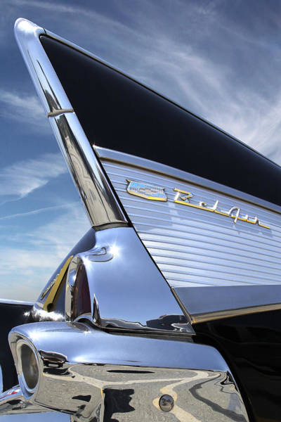 Chevy Wall Art - Photograph - Classic Fin - 57 Chevy Belair by Mike McGlothlen