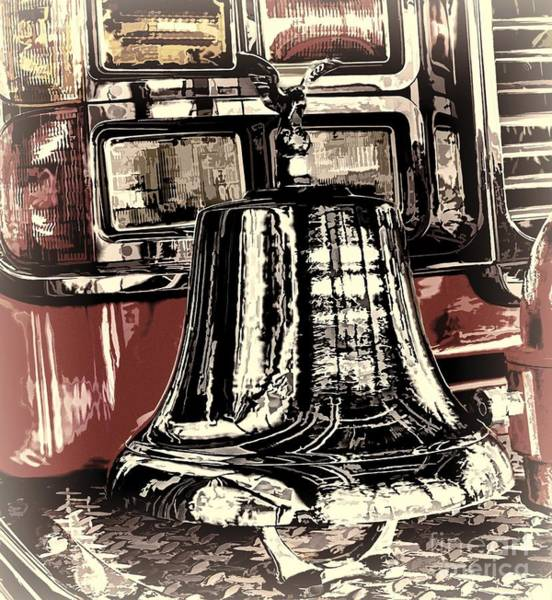 Photograph - Classic Fire Engine Bell by Jim Lepard