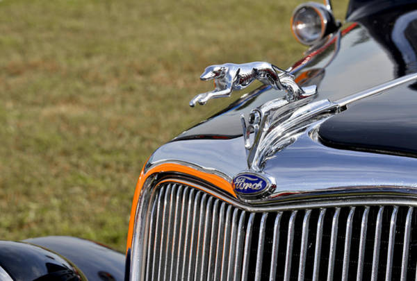 Photograph - Classic Ford V8 Hood Ornament by Carolyn Marshall