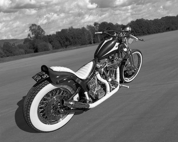 Photograph - Classic Harley In Black And White by Gill Billington