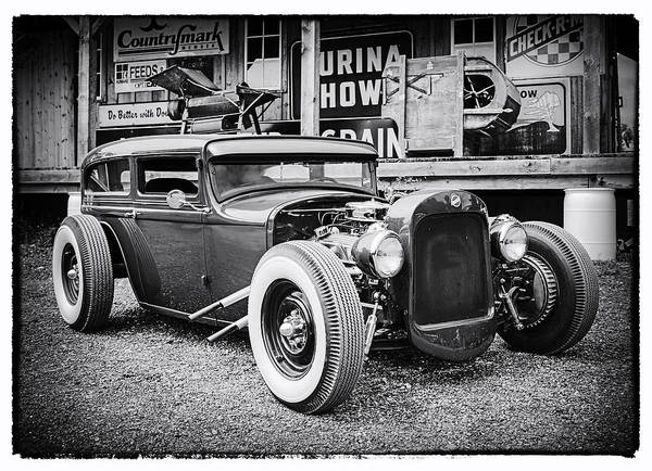 Photograph - Classic Hot Rod In Black And White by Thomas Young