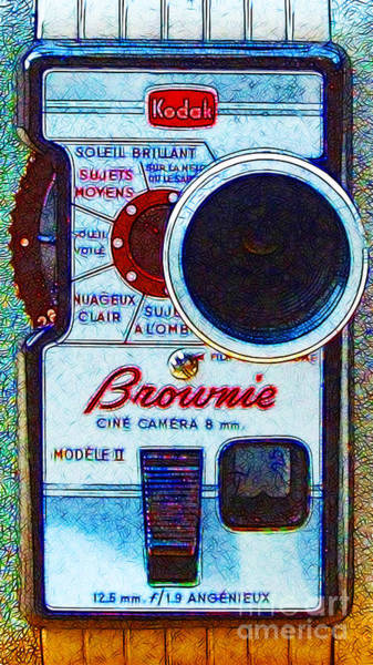 Photograph - Classic Kodak Brownie Camera - 20130117 by Wingsdomain Art and Photography