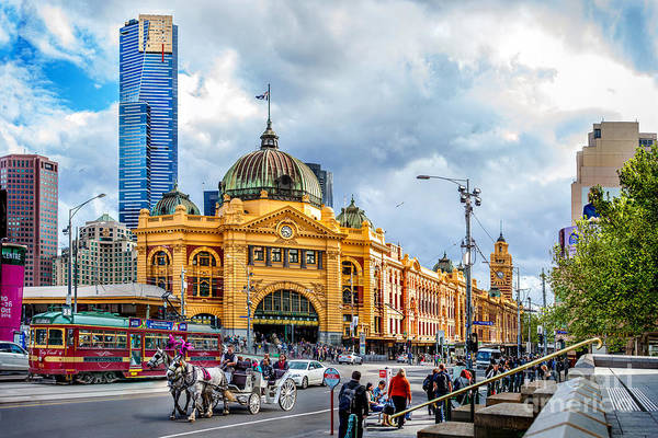 Cloudy Photograph - Classic Melbourne by Az Jackson