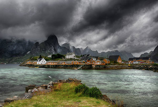 Village Photograph - Classic Norway by Aida Ianeva