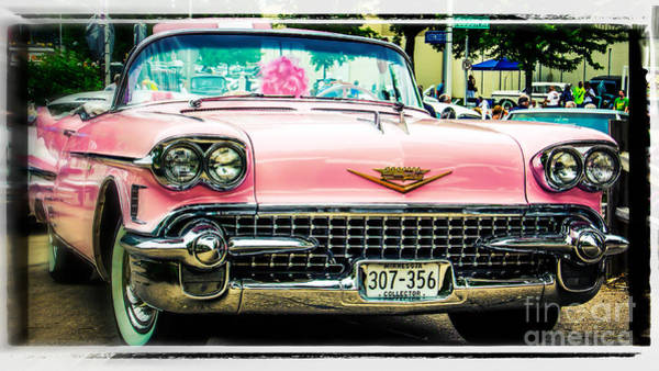 Wall Art - Photograph - Classic Pink Cadillac by Perry Webster