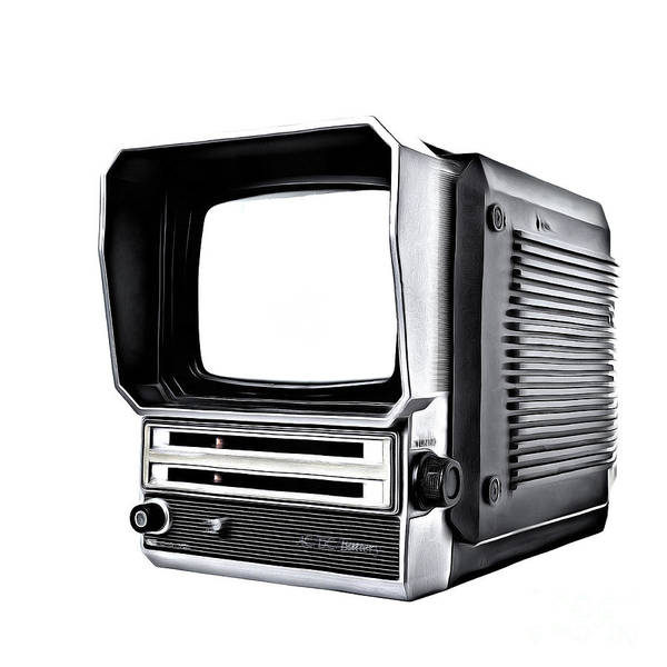 Tv Photograph - Classic Portable Tv by Edward Fielding