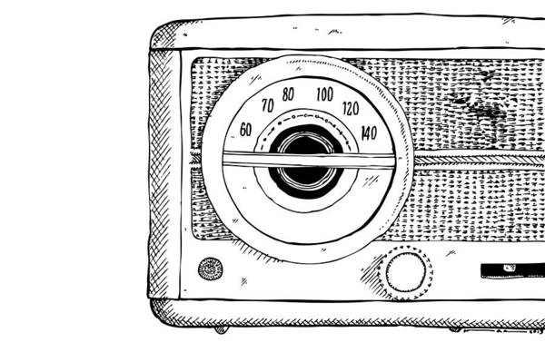 Wall Art - Drawing - Classic Radio by Karl Addison
