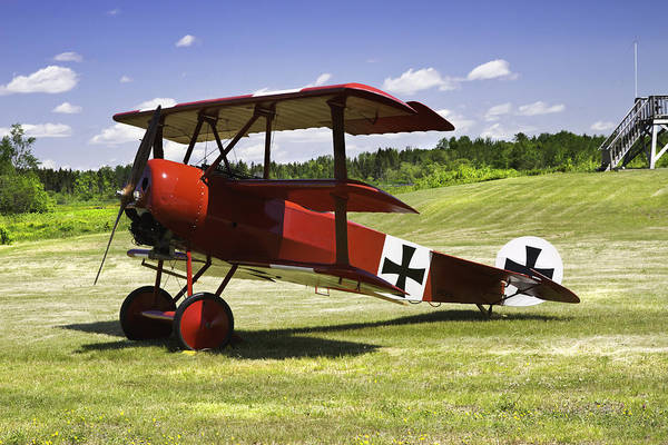 Radial Engine Photograph - Classic Red Barron Fokker Dr.1 Triplane Photo by Keith Webber Jr