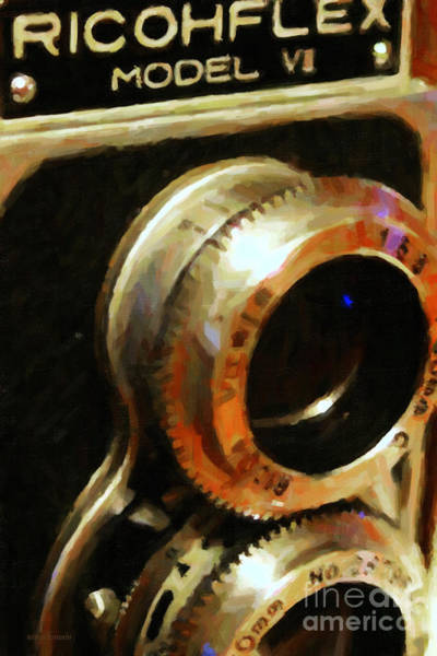 Photograph - Classic Ricohflex Camera - 20130117 - Painterly by Wingsdomain Art and Photography