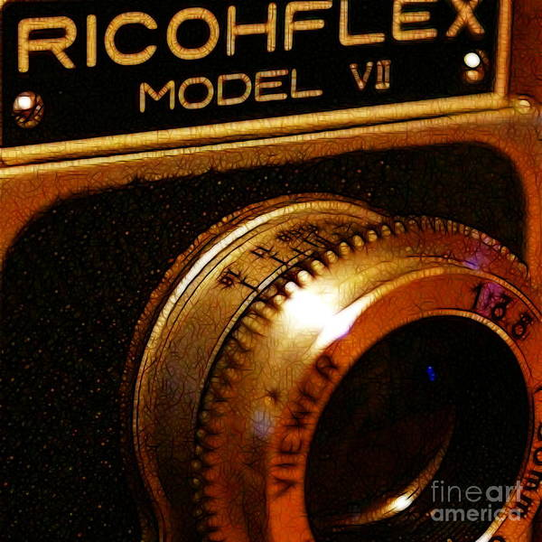 Photograph - Classic Ricohflex Camera - 20130117 - Square by Wingsdomain Art and Photography