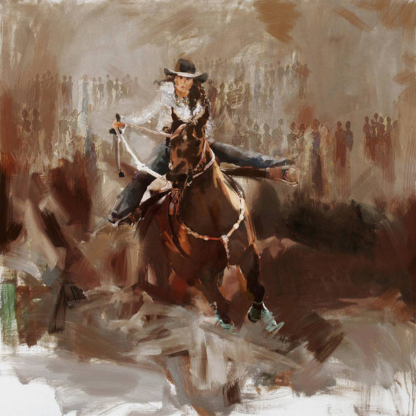 Arlington County Wall Art - Painting - Classic Rodeo 1b by Maryam Mughal