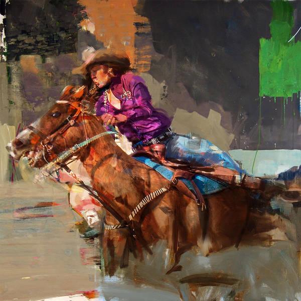 Arlington County Wall Art - Painting - Classic Rodeo 3 by Maryam Mughal