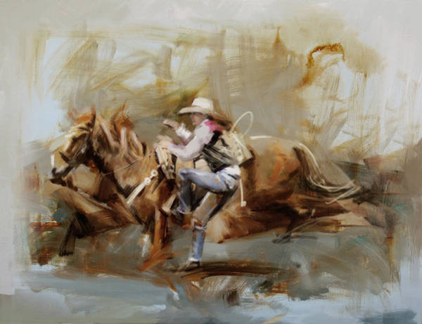 Arlington County Wall Art - Painting - Classic Rodeo 5b by Maryam Mughal