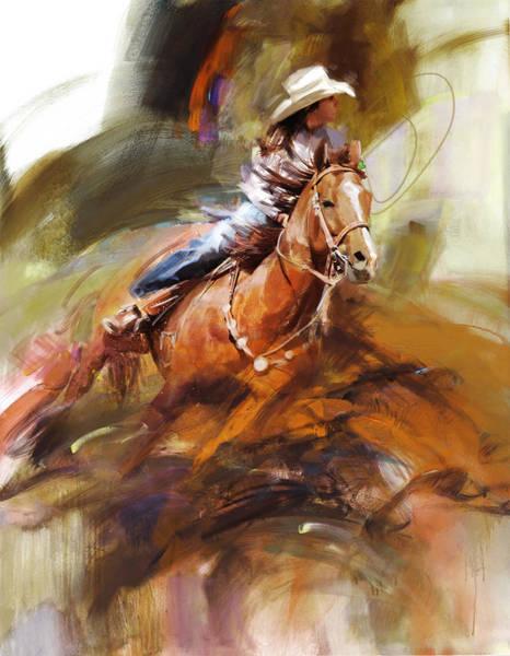 Arlington County Wall Art - Painting - Classic Rodeo 6 by Maryam Mughal