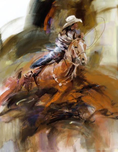 Arlington County Wall Art - Painting - Classic Rodeo 6b by Maryam Mughal