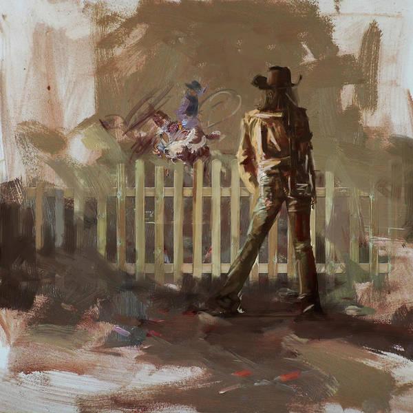 Arlington County Wall Art - Painting - Classic Rodeo 9 by Maryam Mughal