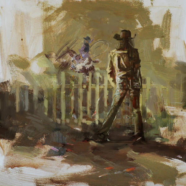 Arlington County Wall Art - Painting - Classic Rodeo 9b by Maryam Mughal
