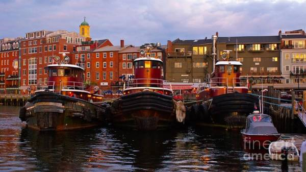 Photograph - Classic Tugboats. by New England Photography
