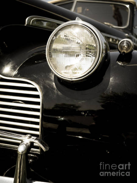 Photograph - Classic Vintage Car Black And White by Edward Fielding