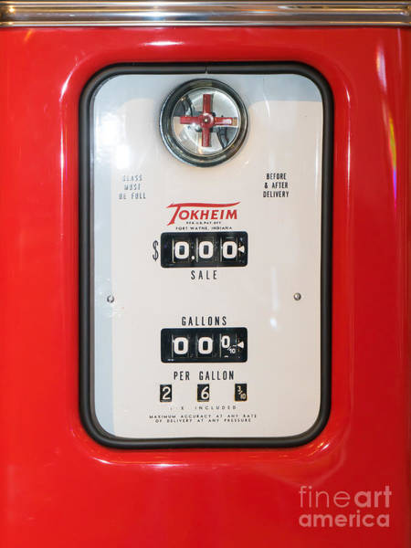 Photograph - Classic Vintage Tokheim Red Indian Gas Pump Dsc02741 by Wingsdomain Art and Photography