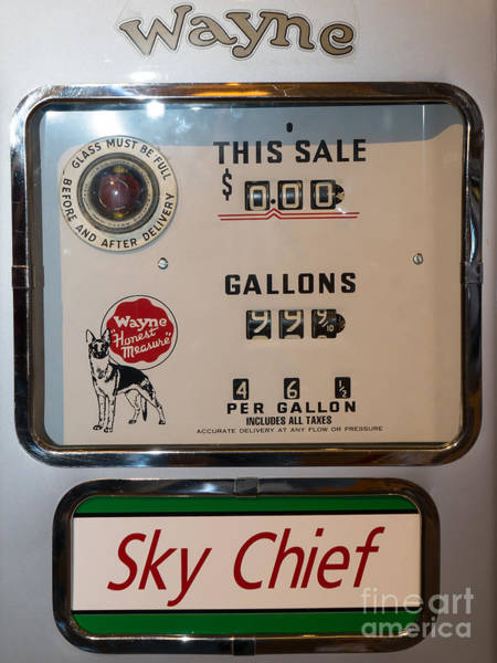 Photograph - Classic Vintage Wayne Sky Chief Gas Pump Dsc02737 by Wingsdomain Art and Photography