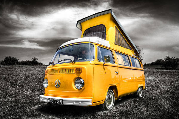 Campervan Photograph - Classic Vw Campervan by Ian Hufton