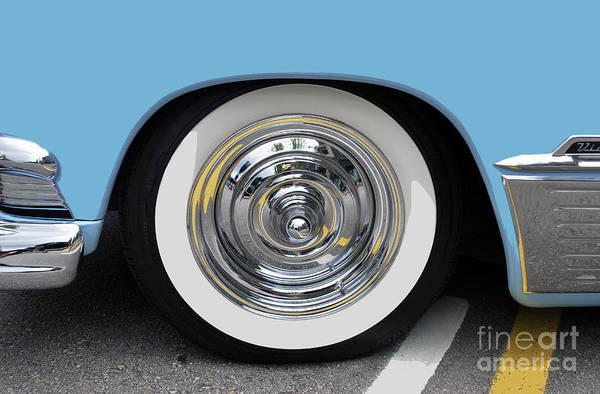 Photograph - Classic Wide Whitewall Tire by Bill Thomson