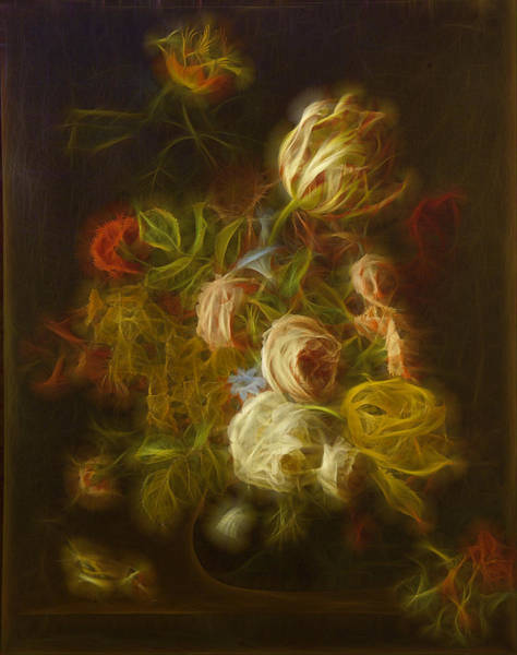 Rose Flower Digital Art - Classica Modern - M01 by Variance Collections