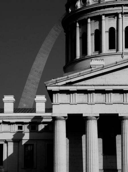 Classical Courthouse Arch Black White Art Print
