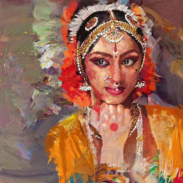 Old South Painting - Classical Dance Art 1 by Maryam Mughal