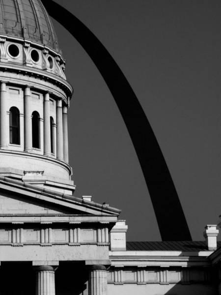 Classical Dome Arch Silhouette Black White Art Print