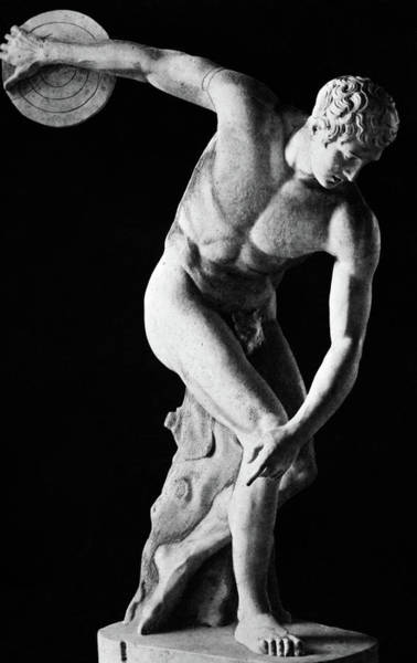 Masculine Photograph - Classical Nude Figure Discus Thrower by Vintage Images