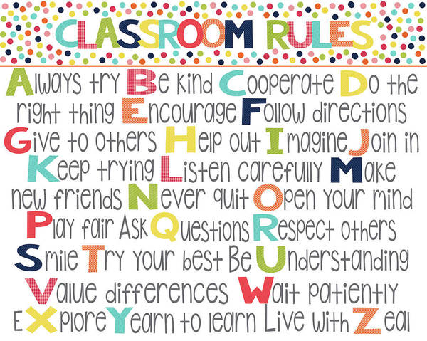 Classroom Painting - Classroom Rules by Alli Rogosich