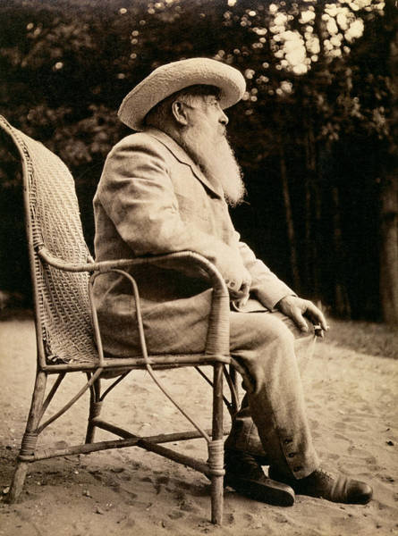 Impressionist Photograph - Claude Monet 1840-1926 Bw Photo by French Photographer