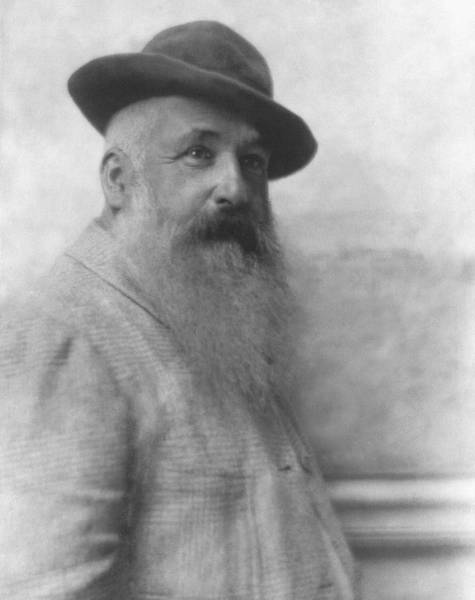 Visual Arts Photograph - Claude Monet Wearing A Hat by Adolphe De Meyer