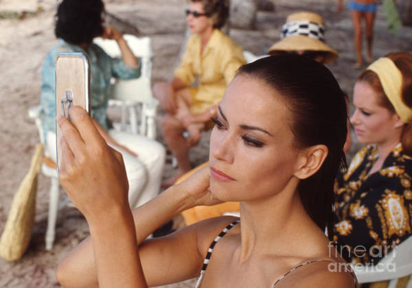Villain Photograph - Claudine Auger And Luciana Paluzzi In Thunderball by The Harrington Collection
