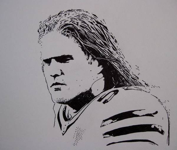 Nfl Drawing - Clay by Lynet McDonald