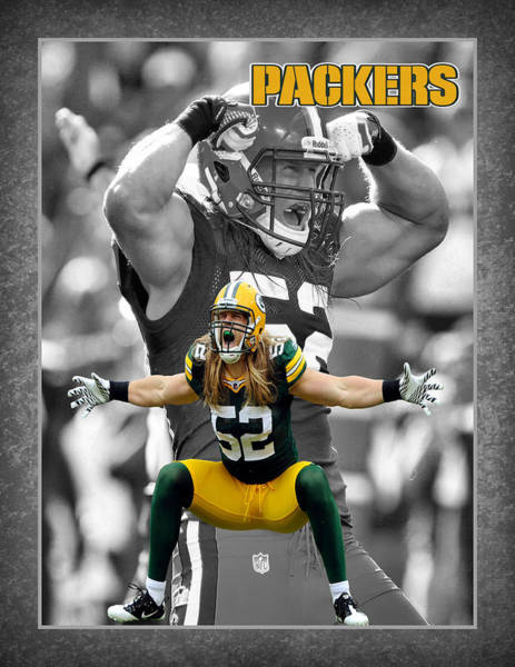 Green Grass Photograph - Clay Matthews Packers by Joe Hamilton