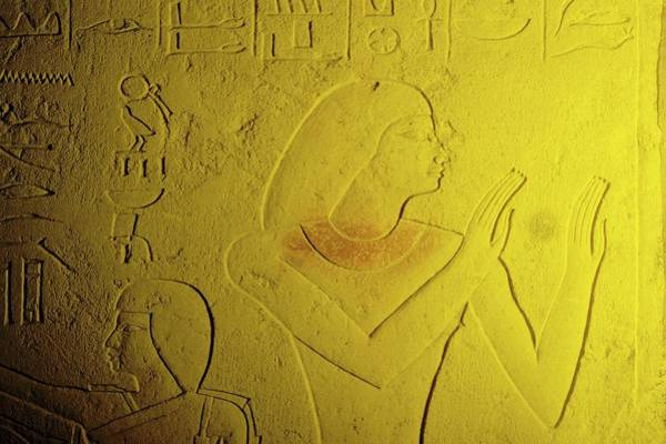 Hieroglyph Photograph - Clay Tablet With Hieroglyphs by Ton Kinsbergen/science Photo Library