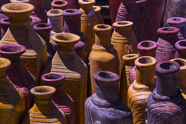Clay Pot Photograph - Clay Vases by Garry Gay