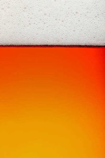 Transparent Wall Art - Photograph - Clean Beer Background by Johan Swanepoel