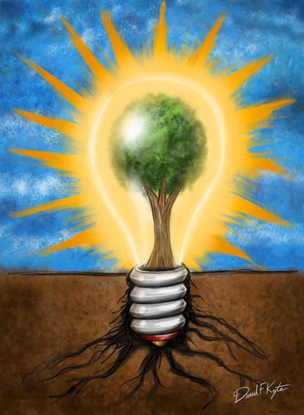 Energy Digital Art - Clean Energy by David Kyte