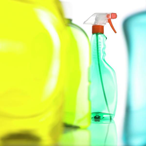 Bottle Green Photograph - Cleaning Products by Science Photo Library