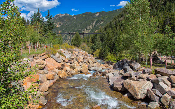 Photograph - Clear Creek In Georgetown Colorado by John M Bailey
