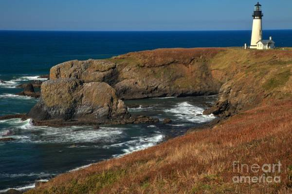 Photograph - Clear Day At Yaquina by Adam Jewell