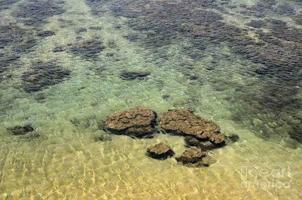 Photograph - Clear Indian Ocean Water With Rocks At Galle Sri Lanka by Imran Ahmed