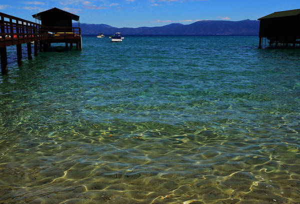 Photograph - Clear Lake Tahoe Blue by Marilyn MacCrakin
