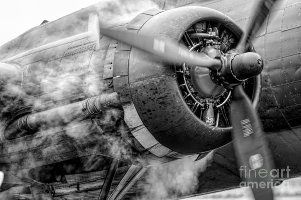 Radial Engine Photograph - Clear Prop by Nathan Gingles