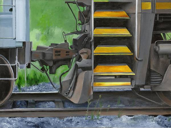 Freight Trains Painting - Clear Signal by Glen Frear